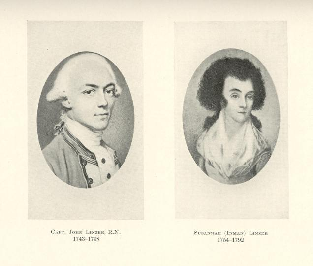 Capt. John Linzee 1743-1798 and Susannah Inman Linzee 1754-1792