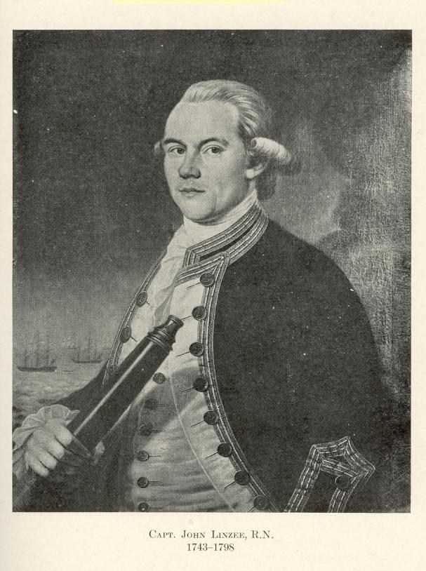 Capt. John Linzee R.N. 1743-1798 alt