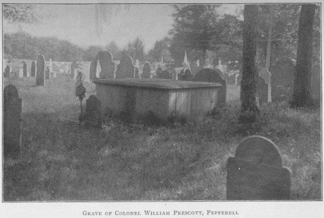 Grave of Col. William Prescott Pepperell, MA