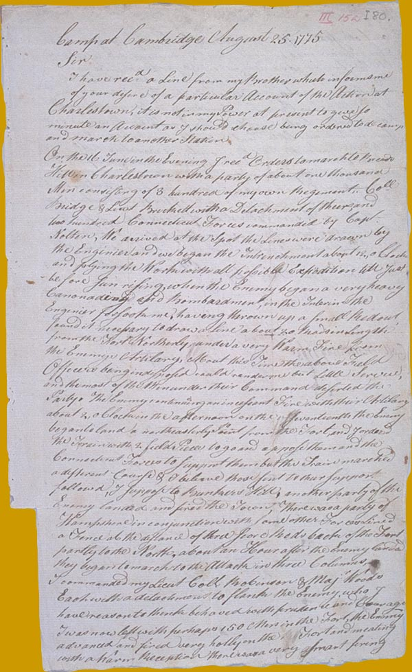 Prescott letter to Adams page 1