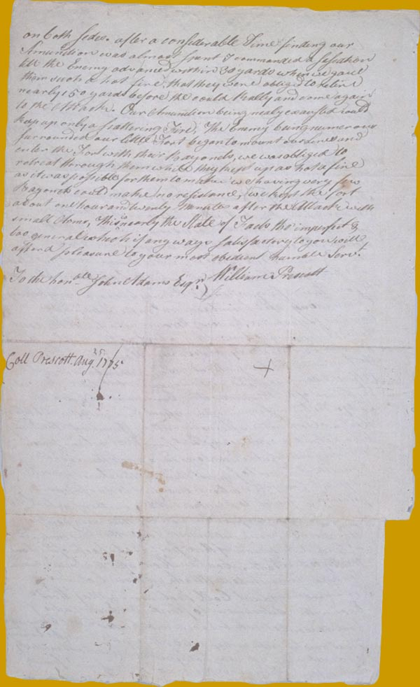 Prescott letter to Adams page 2