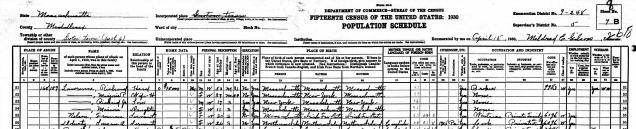 1930 Census detail 1