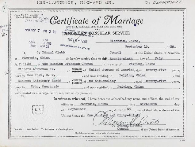 Lawrence Anassimoff marriage cert cropped and adj 1