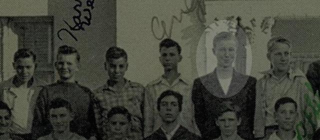 Sonoma HS yearbook 1945 boys half detail 1
