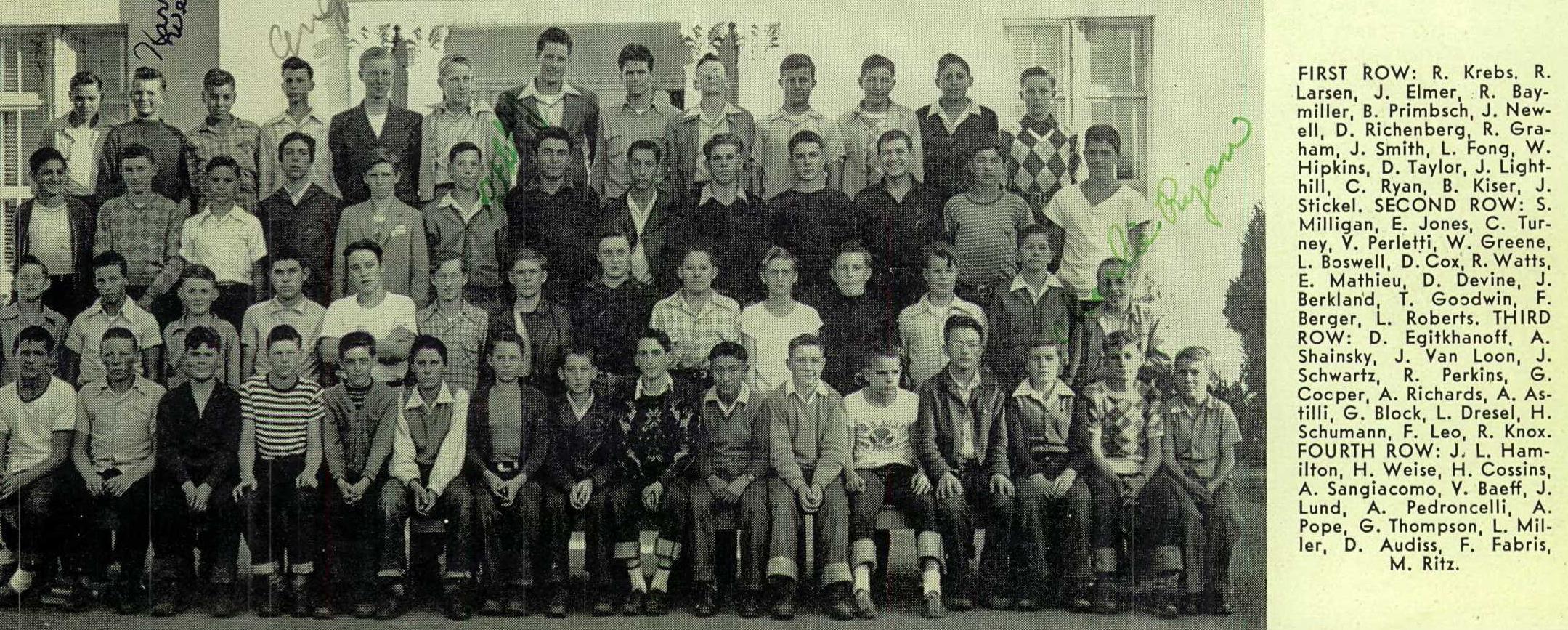 Sonoma HS yearbook 1945 boys half